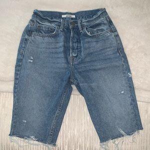 Grlfrnd Be early Bermuda jean shorts